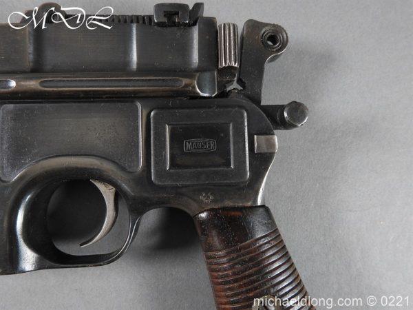 michaeldlong.com 15693 600x450 Deactivated WWI Mauser C96 Pistol