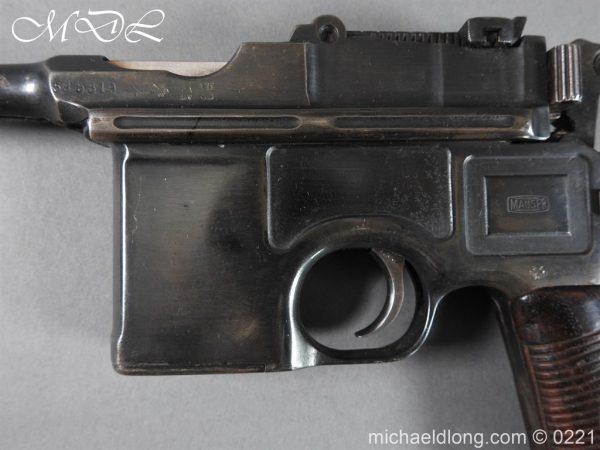 michaeldlong.com 15694 600x450 Deactivated WWI Mauser C96 Pistol