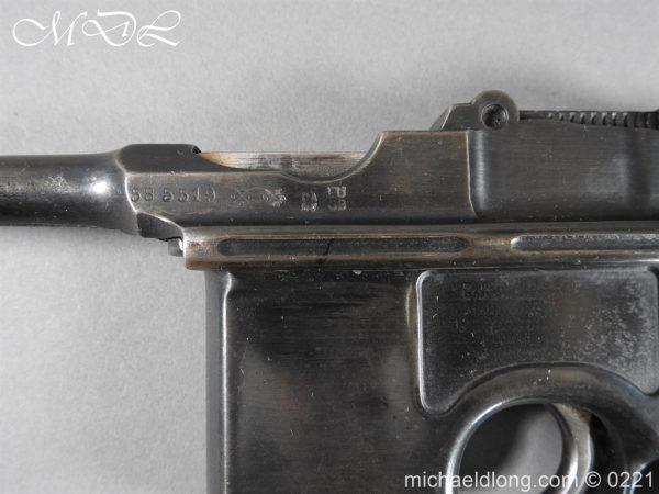 michaeldlong.com 15695 600x450 Deactivated WWI Mauser C96 Pistol