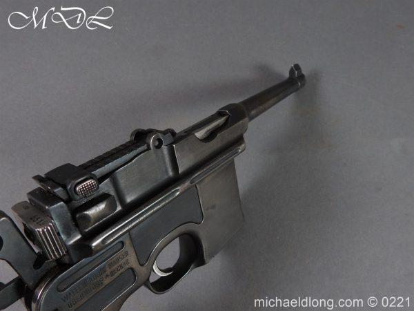 michaeldlong.com 15701 600x450 Deactivated WWI Mauser C96 Pistol