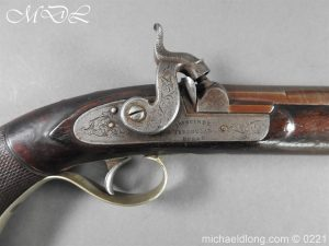 British Percussion Pistol c 1864 by R Garden