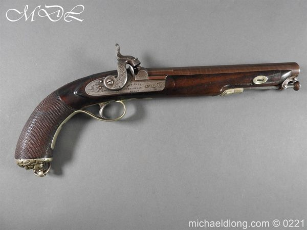 michaeldlong.com 15881 600x450 British Percussion Pistol c 1864 by R Garden Scinde Horse