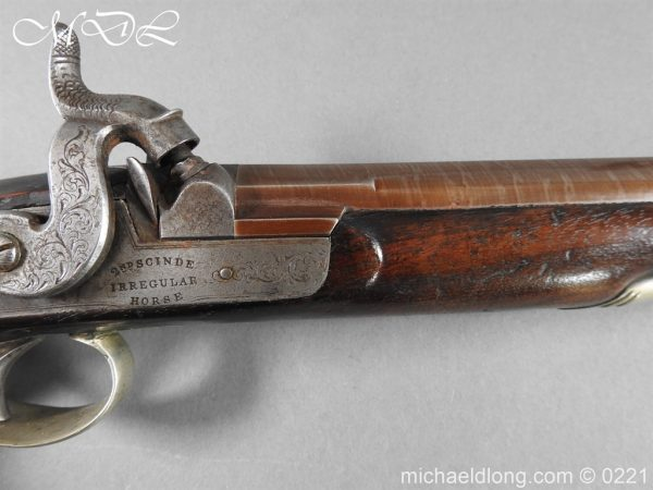 michaeldlong.com 15885 600x450 British Percussion Pistol c 1864 by R Garden Scinde Horse