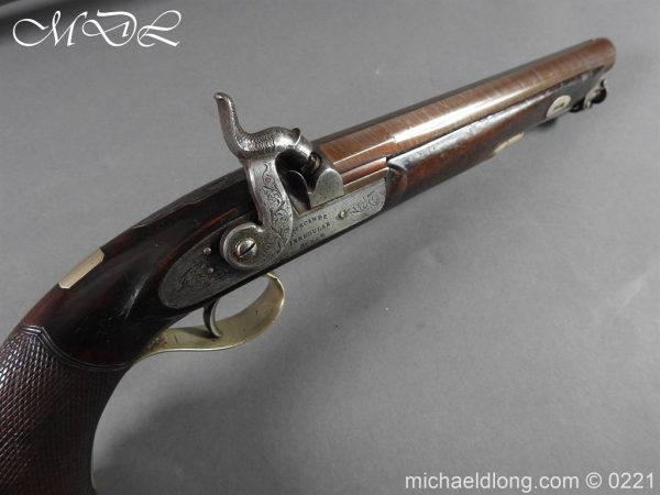 michaeldlong.com 15900 600x450 British Percussion Pistol c 1864 by R Garden Scinde Horse