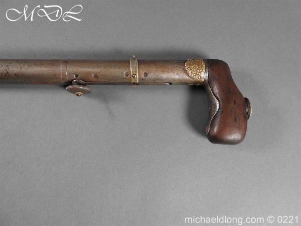 michaeldlong.com 15906 600x450 Day's Patent Breech Loading Percussion Walking Stick Gun