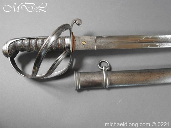 michaeldlong.com 15969 600x450 British Victorian Officer's 1821 Sword by Harman & Co Calcutta