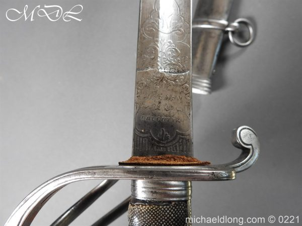 michaeldlong.com 15985 600x450 British Victorian Officer's 1821 Sword by Harman & Co Calcutta