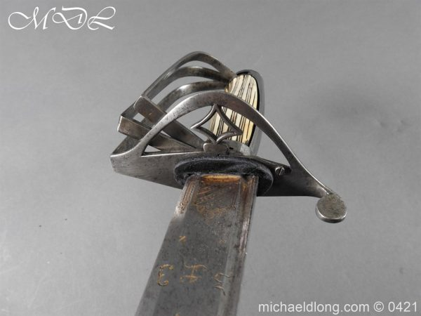 michaeldlong.com 17302 600x450 British Cavalry Officer's Sword with Attack Guard