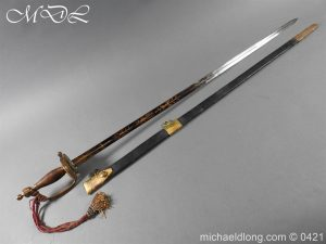 British 1796 Infantry Blue & Gilt Officer's sword