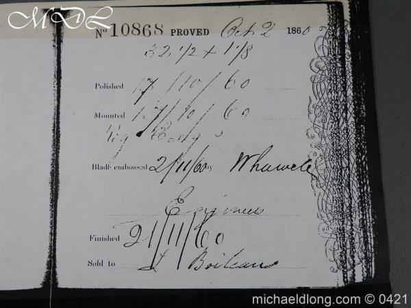 michaeldlong.com 17870 600x450 Royal Engineers 1857 Officer's Sword by Wilkinson