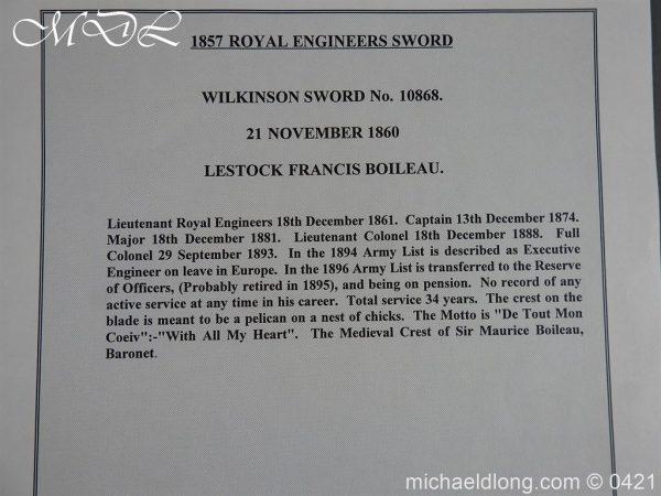 michaeldlong.com 17871 600x450 Royal Engineers 1857 Officer's Sword by Wilkinson