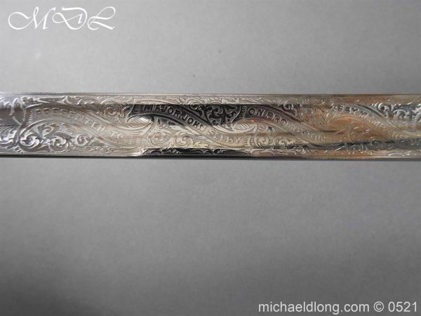 michaeldlong.com 18381 600x450 Victorian Surrey Rifles Presentation Officer's Sword