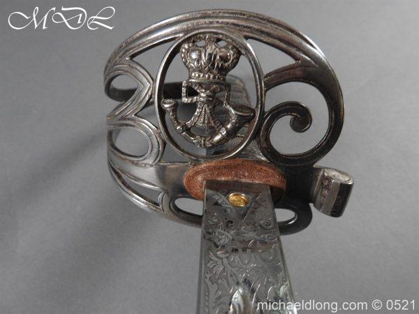 michaeldlong.com 18384 600x450 Victorian Surrey Rifles Presentation Officer's Sword