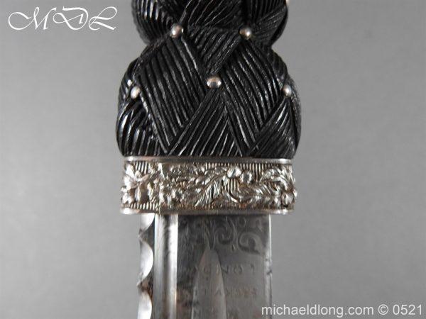 michaeldlong.com 18447 600x450 Victorian Gordon Highlanders Silver Mounted Regimental Dirk