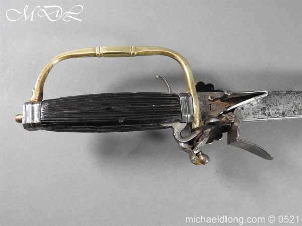 michaeldlong.com 18926 600x450 Flintlock 18th Century Sword Pistol By Van De Baize