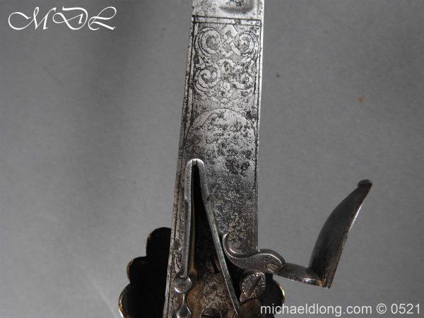 michaeldlong.com 18934 600x450 Flintlock 18th Century Sword Pistol By Van De Baize