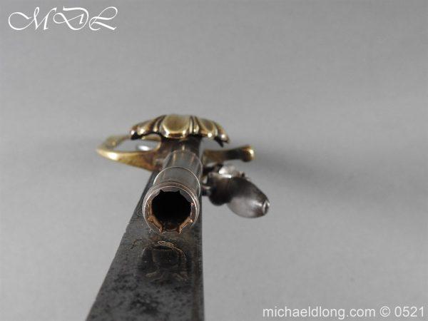 michaeldlong.com 18937 600x450 Flintlock 18th Century Sword Pistol By Van De Baize