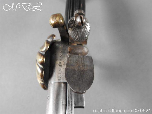 michaeldlong.com 18938 600x450 Flintlock 18th Century Sword Pistol By Van De Baize