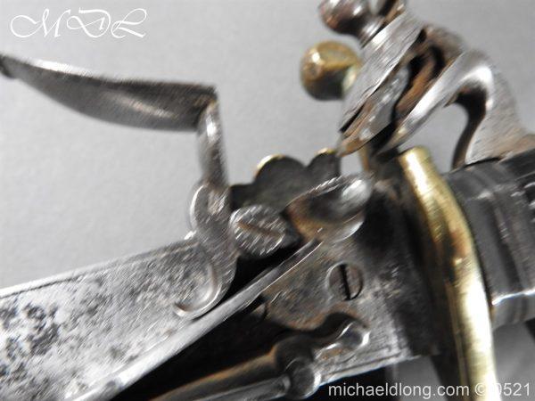 michaeldlong.com 18940 600x450 Flintlock 18th Century Sword Pistol By Van De Baize