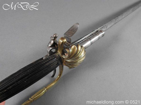 michaeldlong.com 18950 600x450 Flintlock 18th Century Sword Pistol By Van De Baize