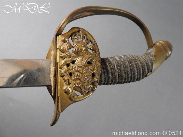 michaeldlong.com 19034 600x450 Prussian Wurttenburg 1889 Infantry Officer's Sword