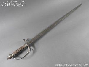 Light Dragoon Troopers Sword c 1760