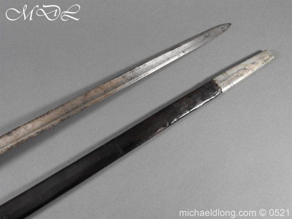 michaeldlong.com 19130 600x450 1796 Silver Hilt Renfrewshire Yeomanry Presentation Sword