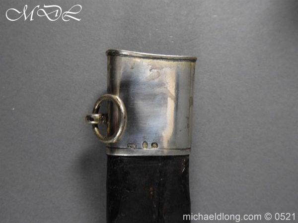 michaeldlong.com 19135 600x450 1796 Silver Hilt Renfrewshire Yeomanry Presentation Sword