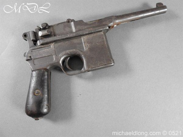 michaeldlong.com 19436 600x450 German Mauser C96 Deactivated Pistol
