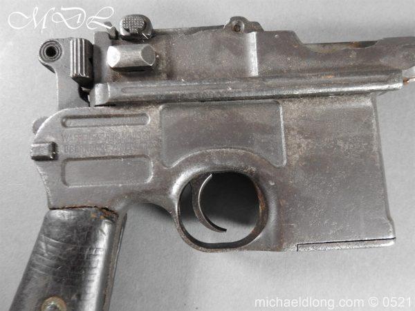 michaeldlong.com 19438 600x450 German Mauser C96 Deactivated Pistol