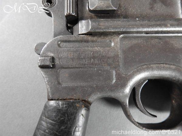 michaeldlong.com 19439 600x450 German Mauser C96 Deactivated Pistol