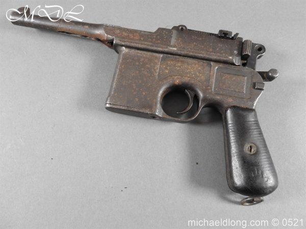 michaeldlong.com 19441 600x450 German Mauser C96 Deactivated Pistol