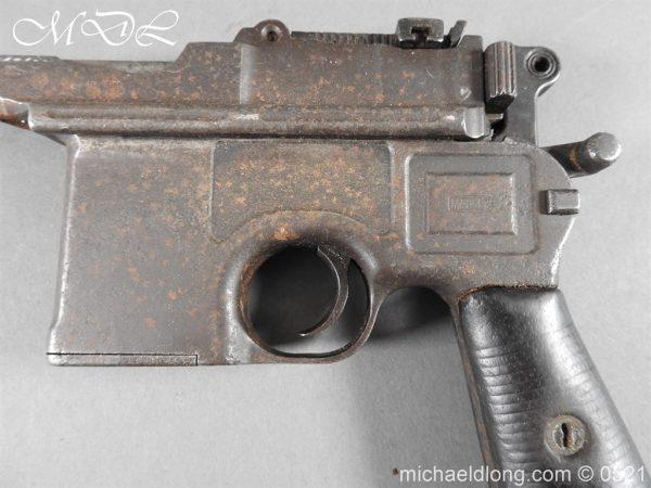 michaeldlong.com 19443 600x450 German Mauser C96 Deactivated Pistol
