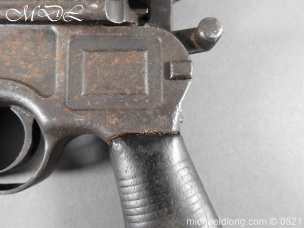 michaeldlong.com 19444 600x450 German Mauser C96 Deactivated Pistol