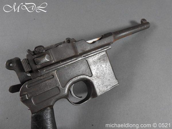 michaeldlong.com 19447 600x450 German Mauser C96 Deactivated Pistol