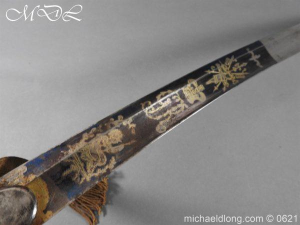 michaeldlong.com 19601 600x450 Georgian Blue & Gilt 1796 Officer's Sword