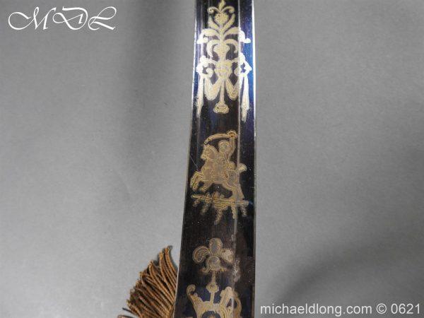 michaeldlong.com 19604 600x450 Georgian Blue & Gilt 1796 Officer's Sword