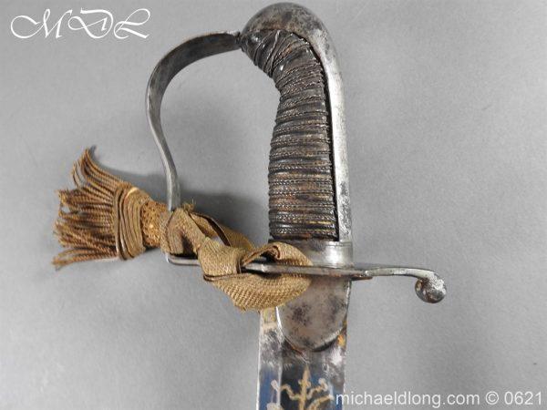 michaeldlong.com 19605 600x450 Georgian Blue & Gilt 1796 Officer's Sword