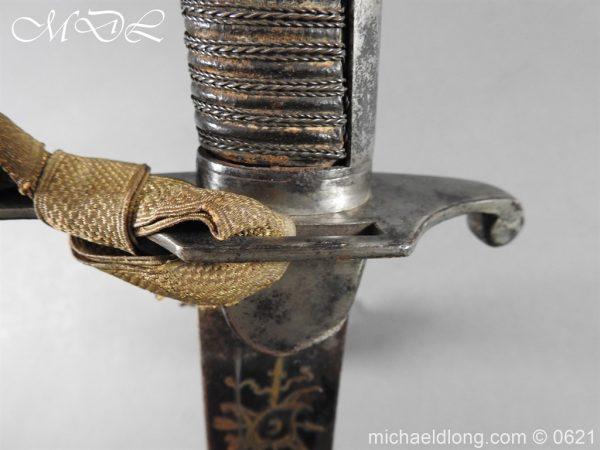 michaeldlong.com 19608 600x450 Georgian Blue & Gilt 1796 Officer's Sword