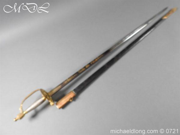 michaeldlong.com 20603 600x450 Officer's 1796 Infantry Sword Blue and Gilt