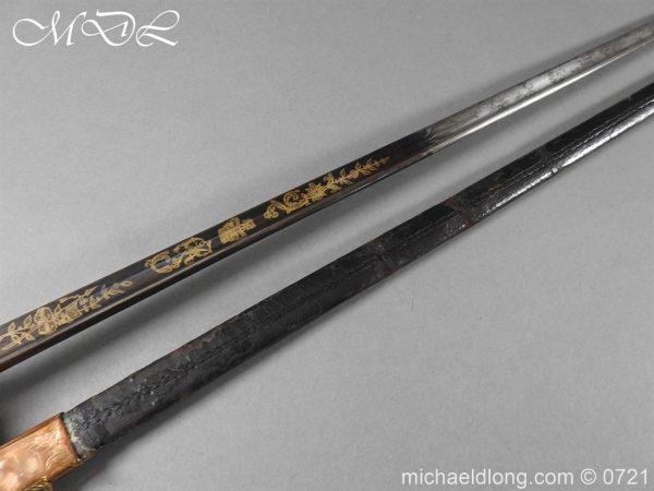 michaeldlong.com 20605 600x450 Officer's 1796 Infantry Sword Blue and Gilt