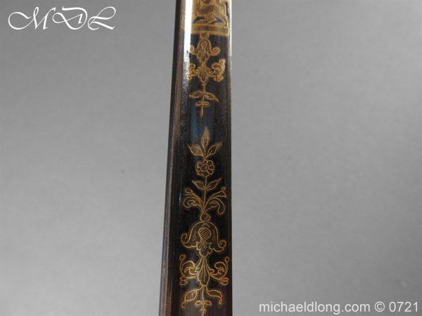 michaeldlong.com 20612 600x450 Officer's 1796 Infantry Sword Blue and Gilt
