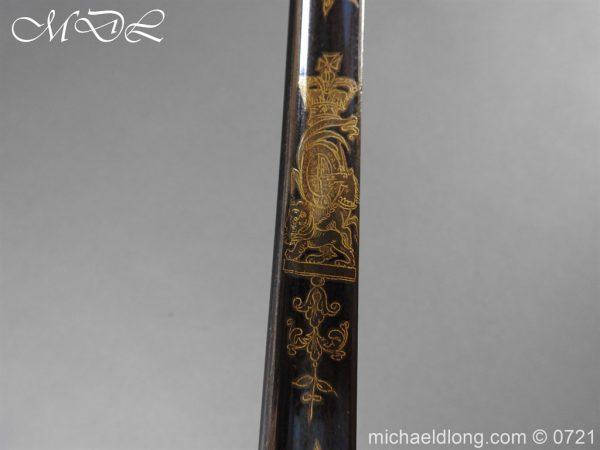 michaeldlong.com 20613 600x450 Officer's 1796 Infantry Sword Blue and Gilt