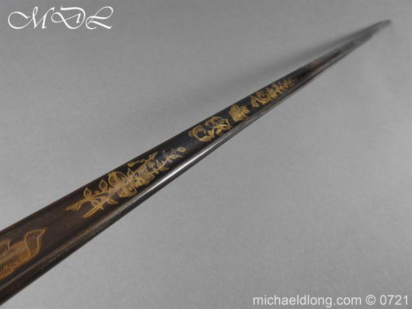 michaeldlong.com 20616 600x450 Officer's 1796 Infantry Sword Blue and Gilt