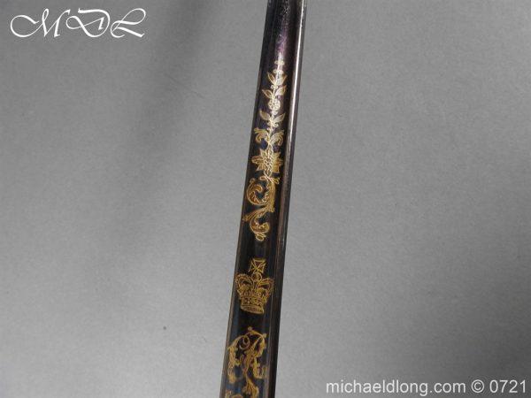 michaeldlong.com 20619 600x450 Officer's 1796 Infantry Sword Blue and Gilt