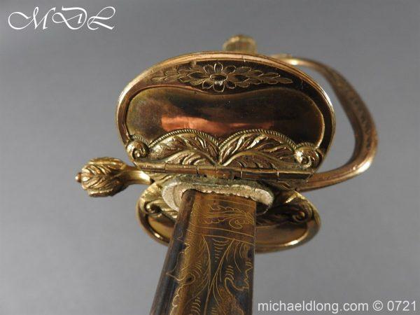 michaeldlong.com 20622 600x450 Officer's 1796 Infantry Sword Blue and Gilt