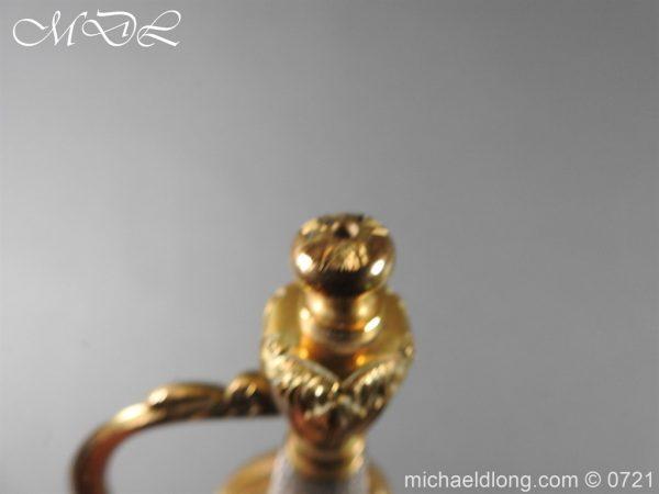 michaeldlong.com 20626 600x450 Officer's 1796 Infantry Sword Blue and Gilt
