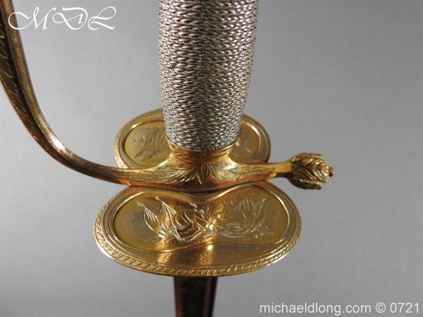 michaeldlong.com 20627 600x450 Officer's 1796 Infantry Sword Blue and Gilt