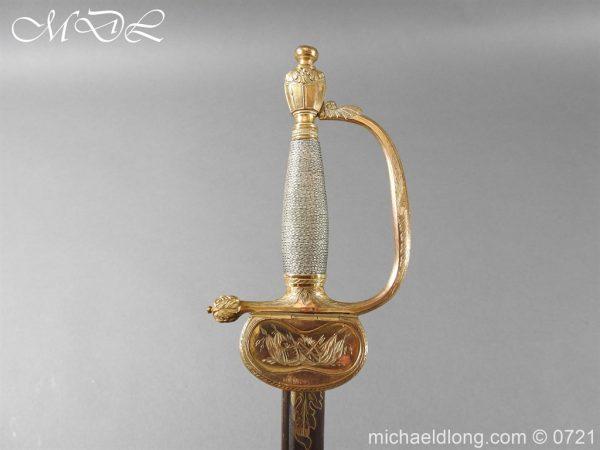 michaeldlong.com 20630 600x450 Officer's 1796 Infantry Sword Blue and Gilt