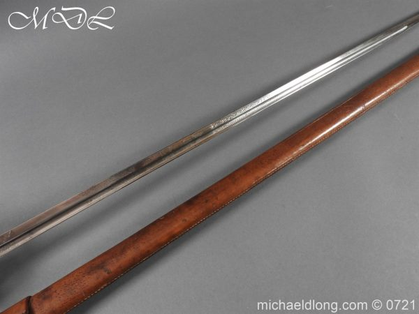 michaeldlong.com 20687 600x450 10th Hussars 1912 Officer's Sword by Wilkinson